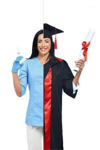 סטודנטית לתואר בדרך לקריירה