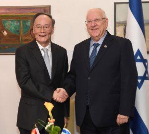 נשיא המדינה ראובן ריבלין בפגישה עם סגן נשיא סין